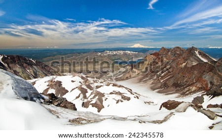 Crater of Mt. St. Helens, Washington, USA - stock photo
