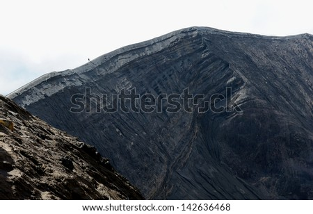 Crater of Volcanic Mountain - stock photo