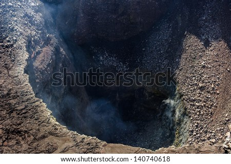 Craters of the Masaya Volcano, Nicaragua - stock photo