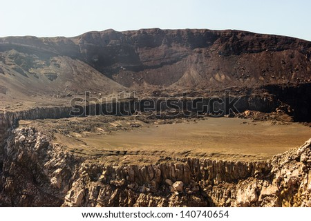 Craters of volcanos - stock photo