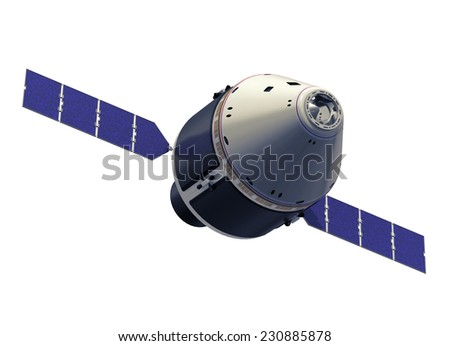 Craw Exploration Vehicle. 3D model. - stock photo