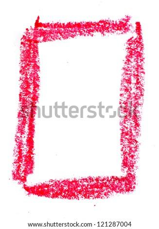 Crayon number - stock photo