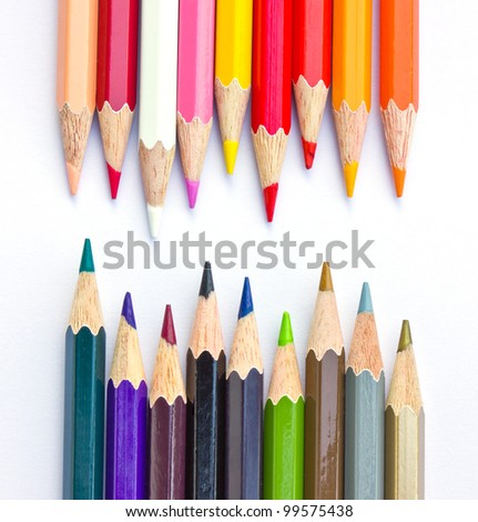 Crayon on a weight background