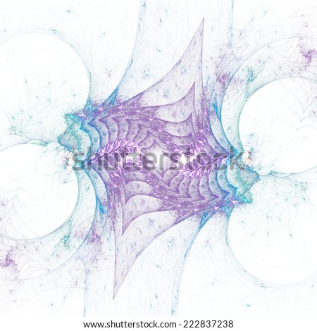 Crazy abstract fractal shapes on white background - stock photo