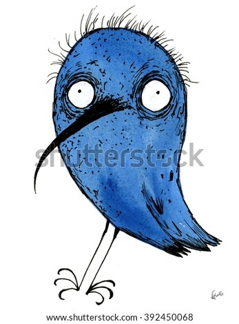 Crazy birds - stock photo