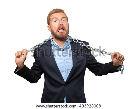 crazy businessman worried expression