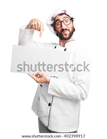 crazy chef surprised expression