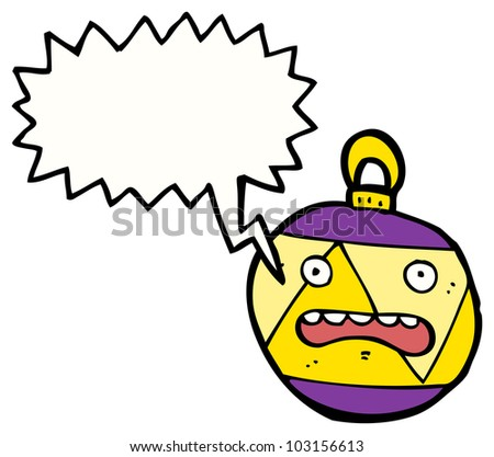 crazy christmas bauble cartoon