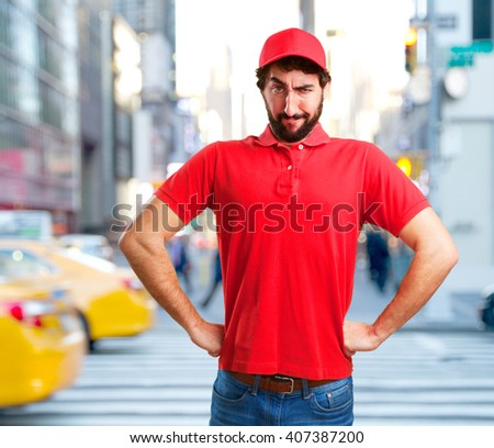 crazy dealer angry expression - stock photo