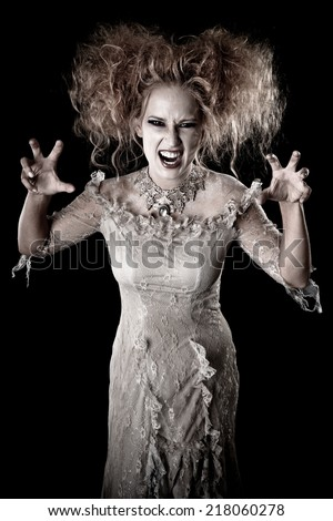 Crazy hair terrifying beautiful Witch