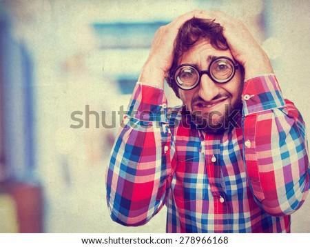 crazy loser man - stock photo