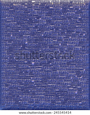 Crazy Sale Blue violet metallic 3D background template. - stock photo
