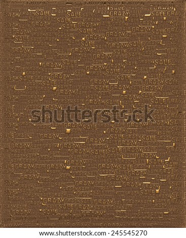 Crazy Sale Gold metallic 3D background template. - stock photo