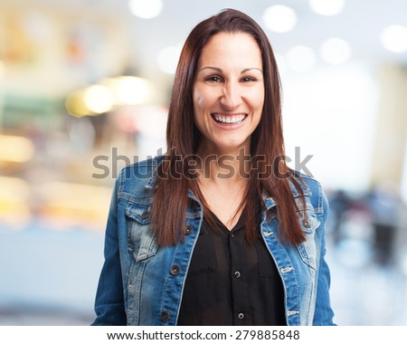 crazy woman isolated - stock photo
