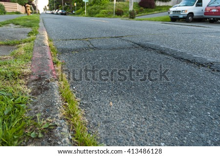 creaky road and curb side