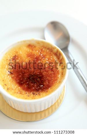 Cream Brulee - stock photo