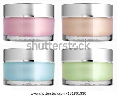 Cream cans set. Photo - stock photo