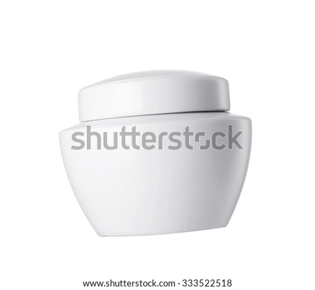 Cream container isolated on white