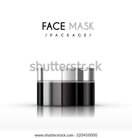 cream face mask package isolated on white background
