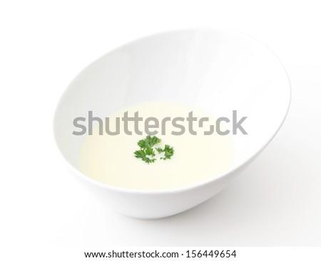Cream of Cauliflower Soup - stock photo