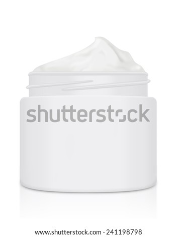 Cream packaging not have lid and blank text - stock photo