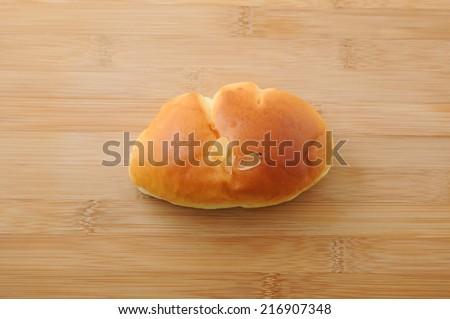 cream pan bread on cutting board - stock photo