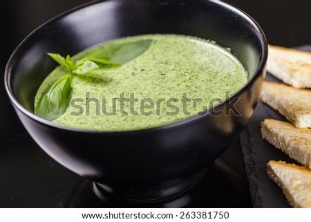 Cream soup - stock photo