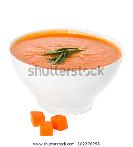 cream soup isolated - stock photo