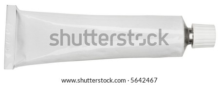 Cream Tube - isolated on white