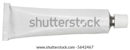 Cream Tube - isolated on white - stock photo