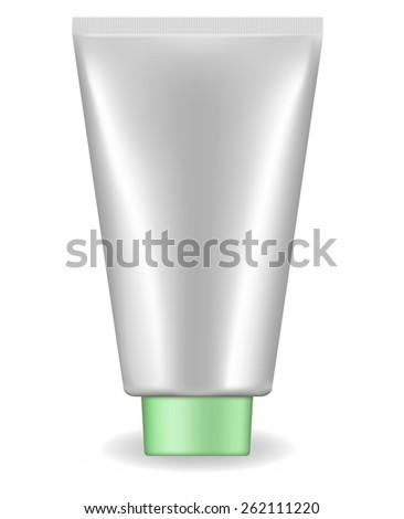 Cream tube isolated on white background. Raster version - stock photo