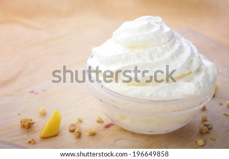 cream whipped food - stock photo
