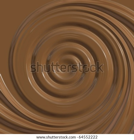 Creamy chocolate spiral - stock photo