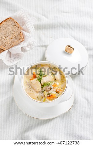creamy soup with white beans
