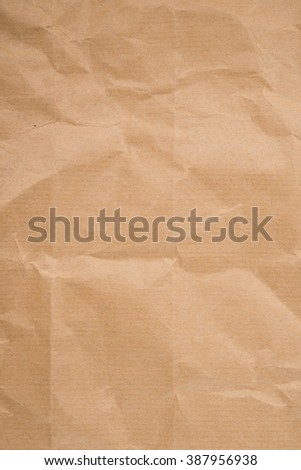 Creased eco paper background. Recycled paper texture. - stock photo