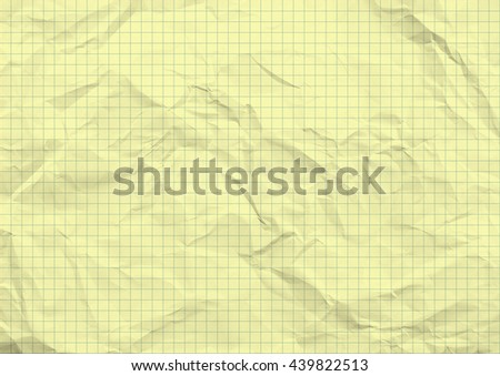 Creased graph paper texture background