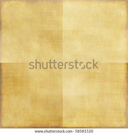Creased Old Paper Background - stock photo