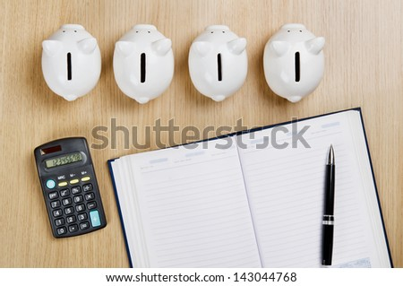 Create a plan for saving money - stock photo