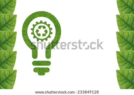 Create from leaf.(ECO Light green concept) - stock photo