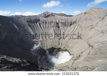 Creater of Bromo vocalno, East Java, Indonesia  - stock photo