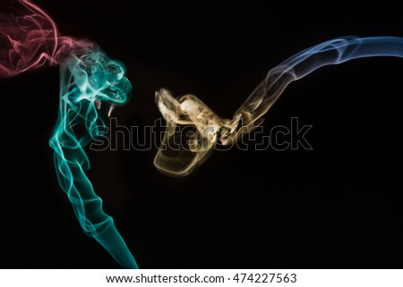 Creating shapes with smoke/Snakes
