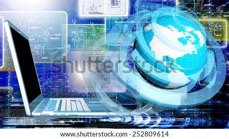 Creation computer connection technologies.Internet - stock photo