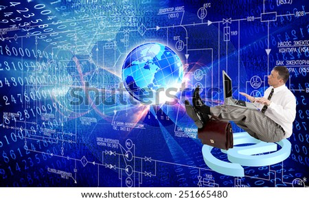 Creation engineering computers technologies - stock photo
