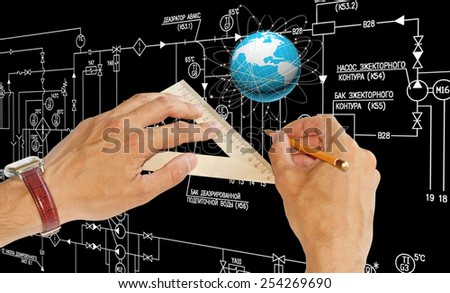 Creation new Internet technologies.Connection - stock photo