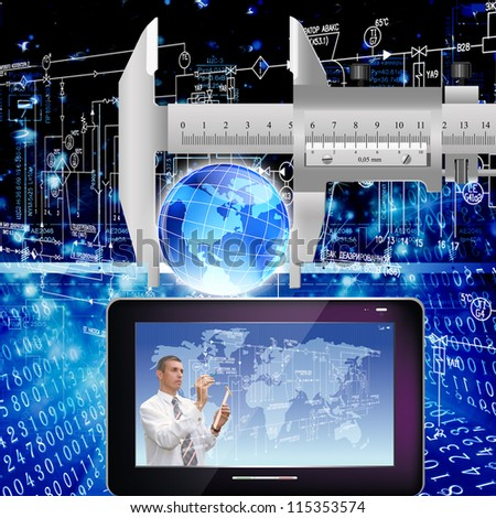 Creation of the newest telecommunication and the Internet  future - stock photo