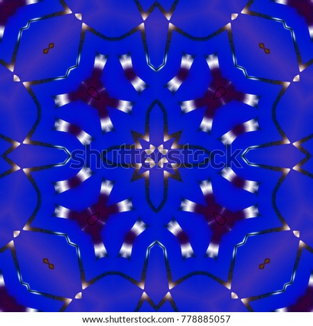Creative abstract background. Raster illustration. Abstract mandala pattern.