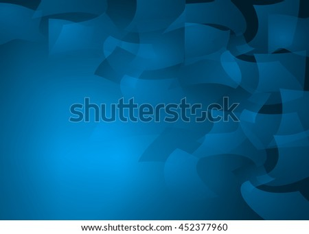 """Creative abstract blue illustration of paper, bills or money floating or blowing in the the wind..An image of the elusive """"Paper Chase"""" - stock photo"""