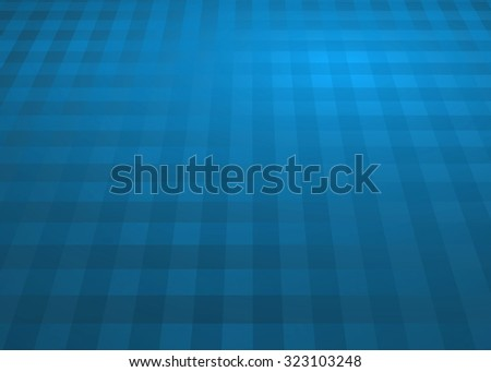 Creative abstract dark soft teal blue random pixel style background with perspective.