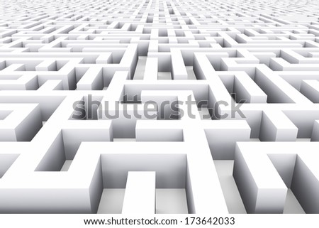 Creative abstract success, marketing, strategy and motivation business concept: whine endless labyrinth background