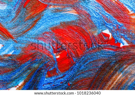 creative art background hand drawn acrylic painting closeup shot of brushstrokes colorful texture acrylic paint